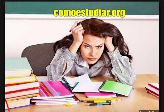 Estrés del Examen