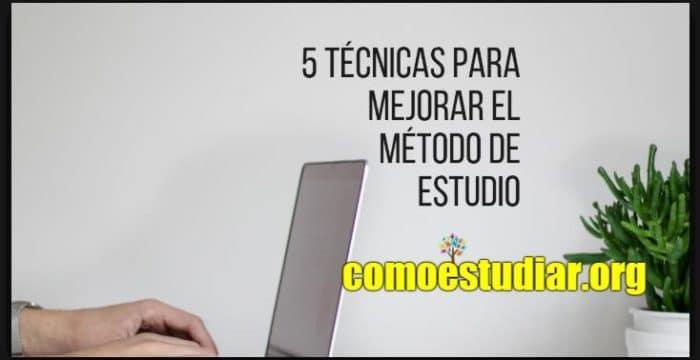 técnicas de estudio en la universidad
