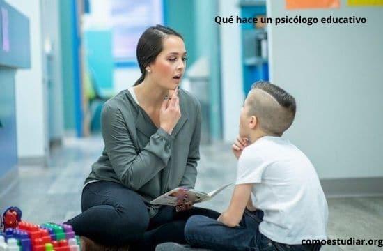 Qué hace un psicólogo educativo